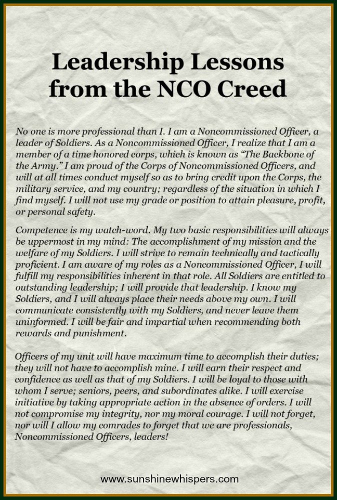 Creed essay nco
