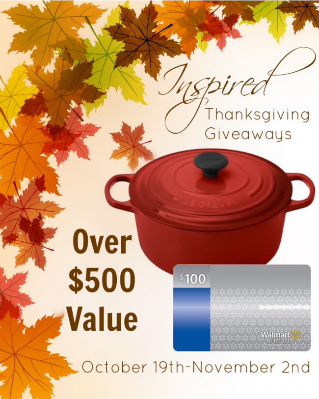Inspired Thanksgiving Giveaways!
