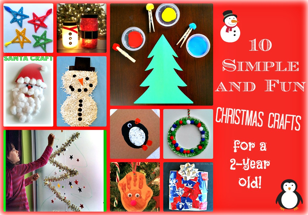 10 simple and fun christmas crafts for a 2 year old