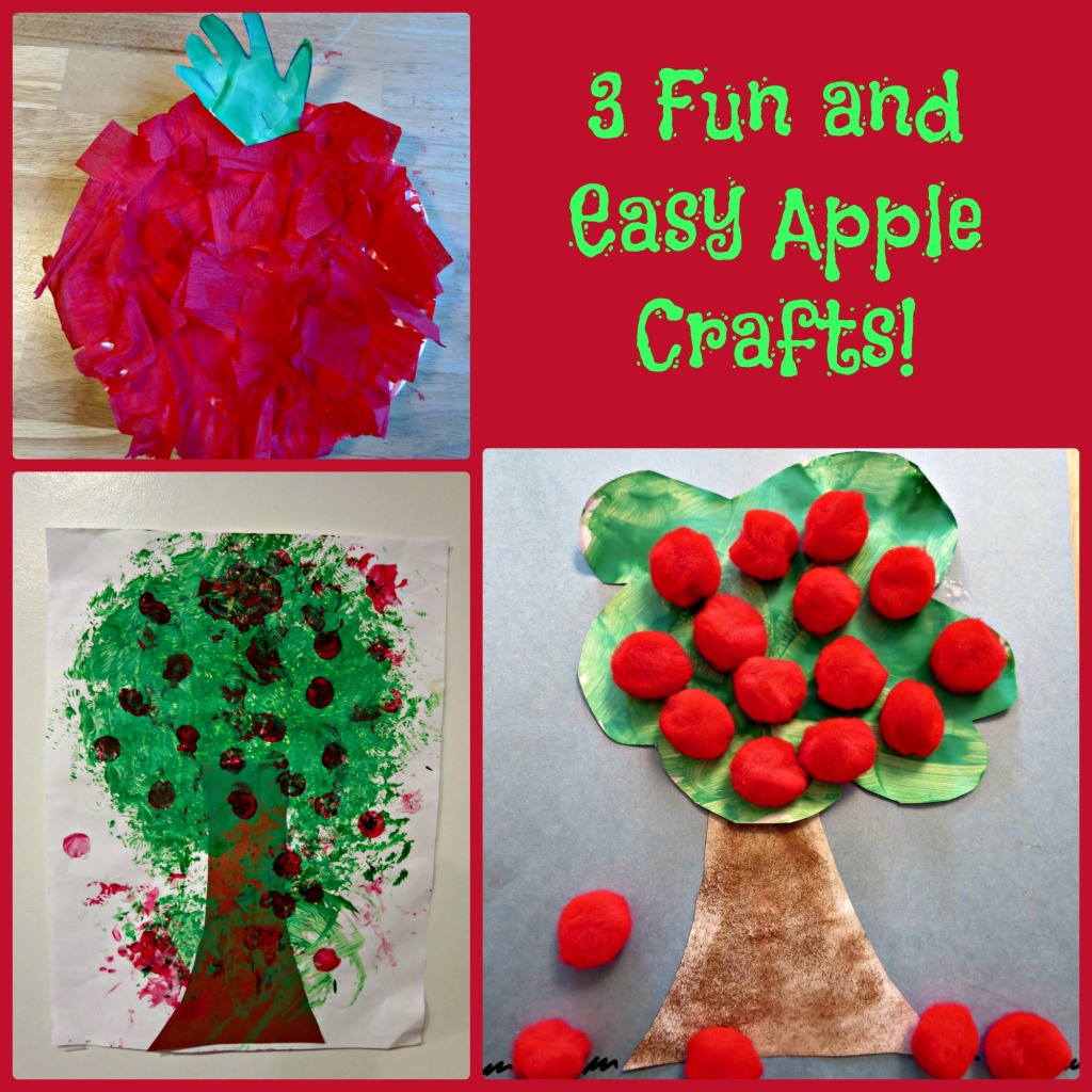 3 Fun and Easy Apple Crafts!