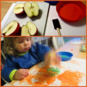 pumpkin apple stamp craft