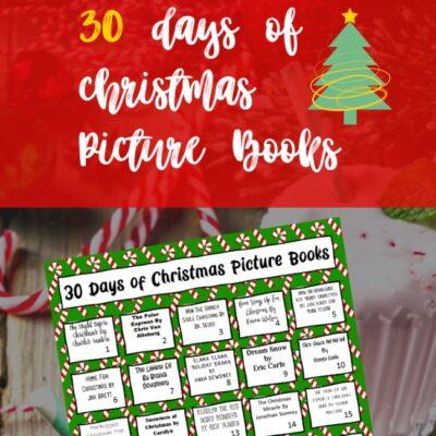 30 Days of Christmas Books {FREE Printable!}