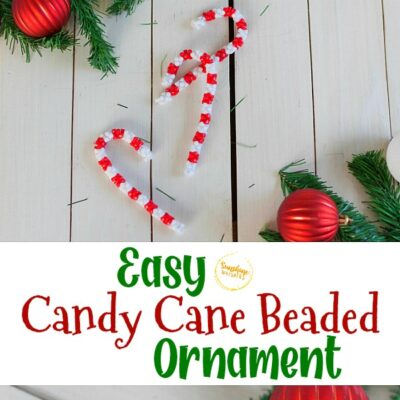 Easy Candy Cane Beaded Ornament Craft