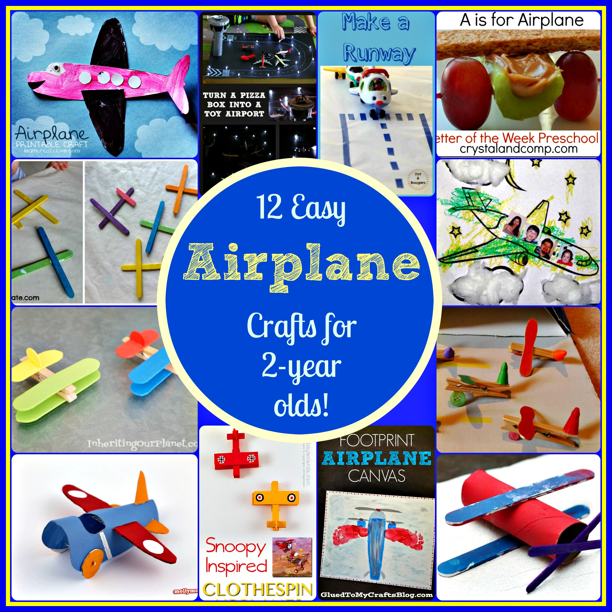 12 Easy Airplane Crafts for 2 Year Olds!