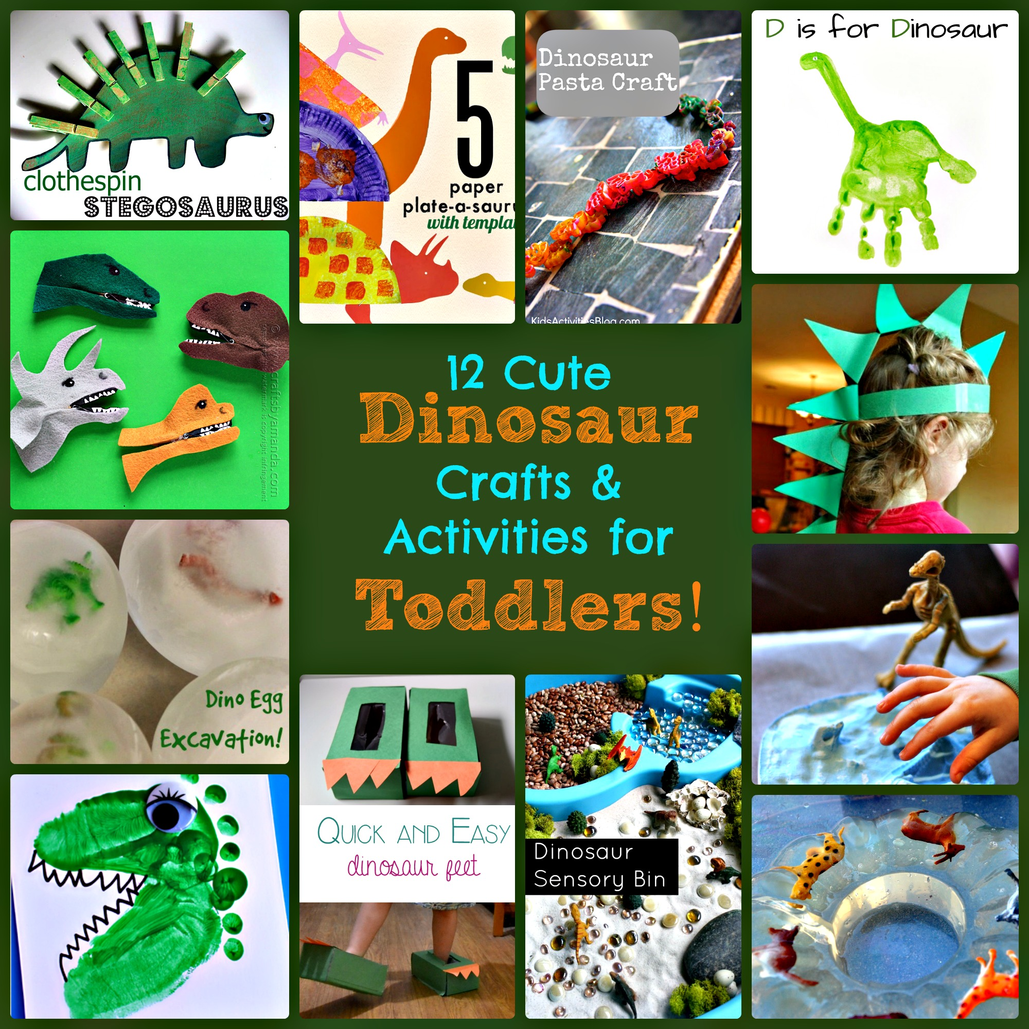 12 Cute Dinosaur Crafts and Activities for Toddlers!