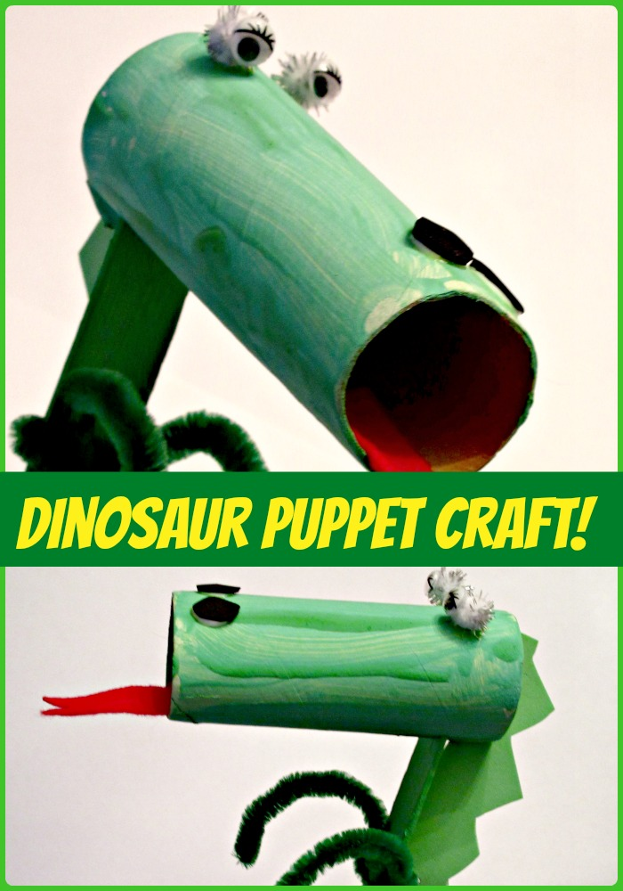 Ferocious Dinosaur Puppet Craft for Kids!