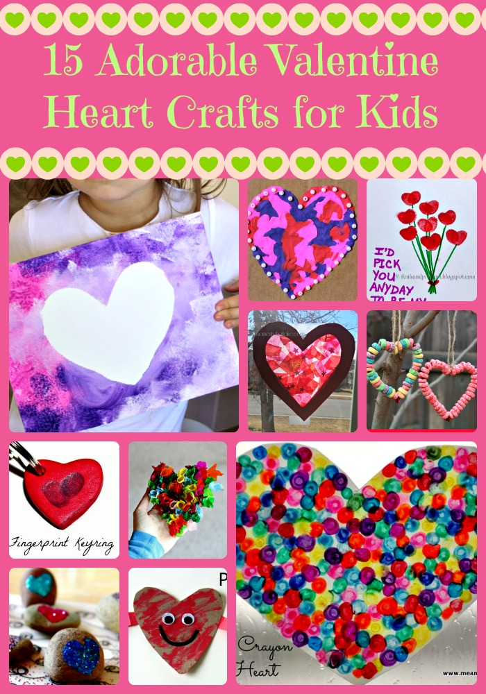 15 Adorable Valentine Heart Crafts for Kids