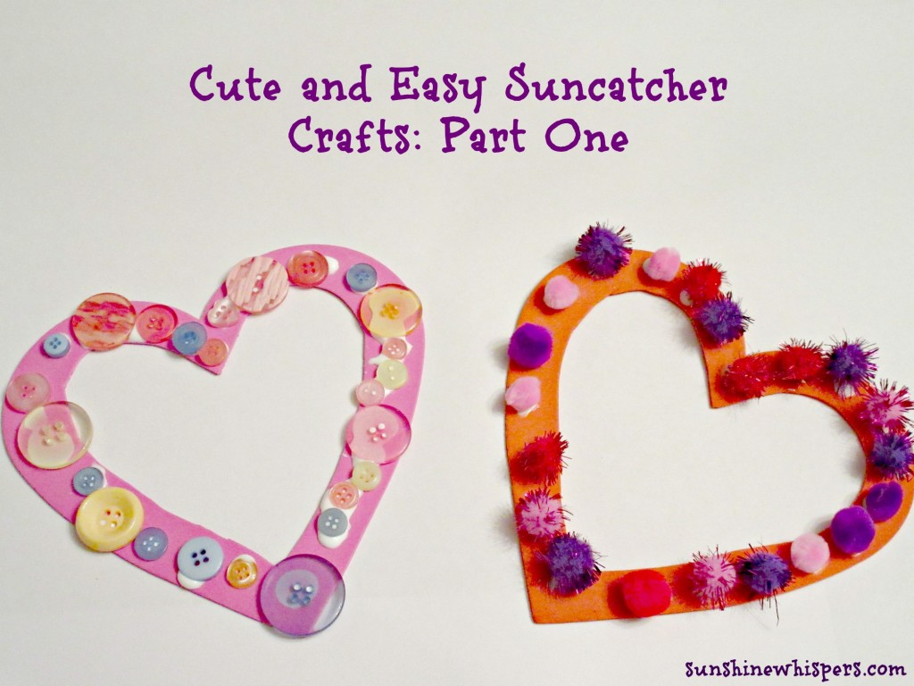 Heart Suncatcher Crafts for Kids