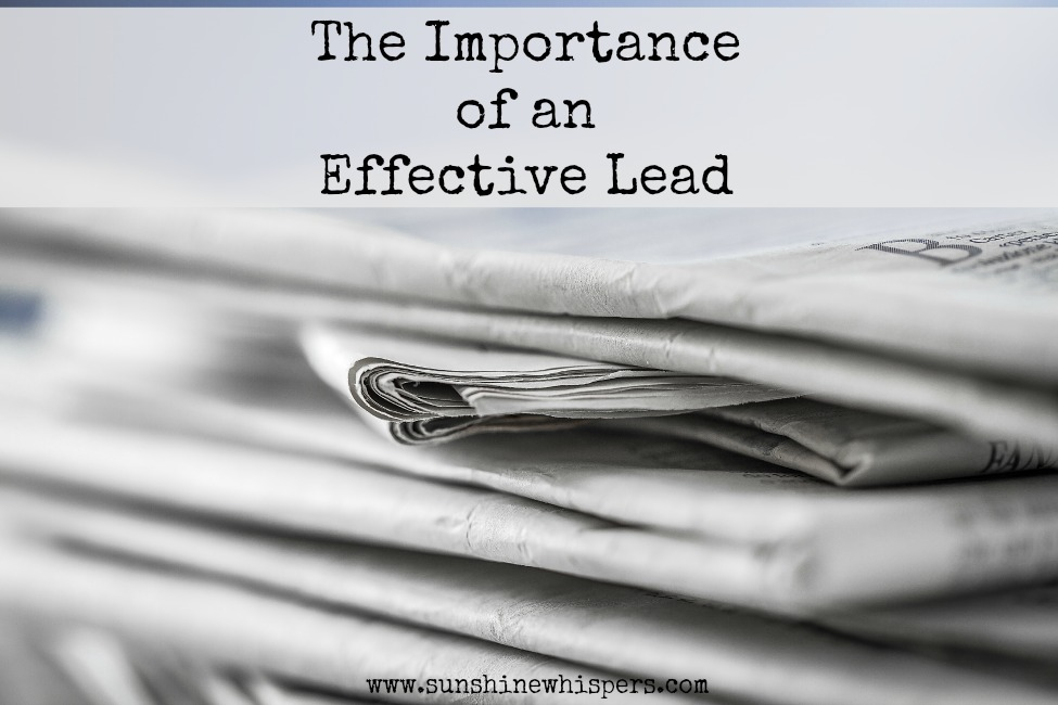 Writing Principles for Bloggers: Effective Lead