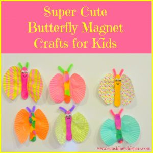butterfly magnet crafts for kids