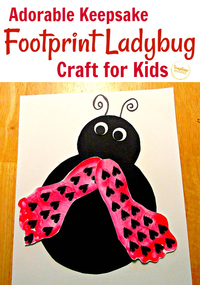 footprint ladybug craft for kids