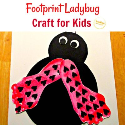 Adorable Keepsake Footprint Ladybug Craft for Kids
