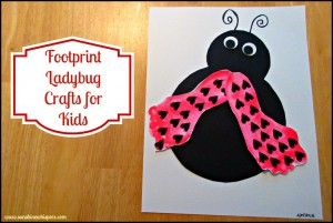footprint ladybug crafts for kids