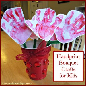 handprint bouquet crafts for kids