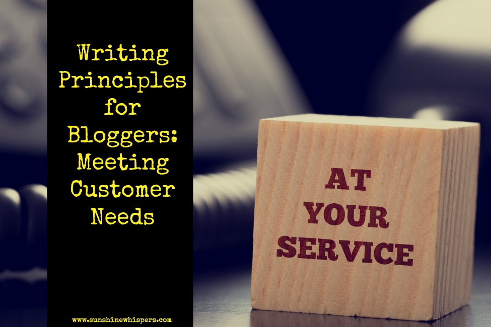 Writing Principles for Bloggers: Meeting Customer Needs