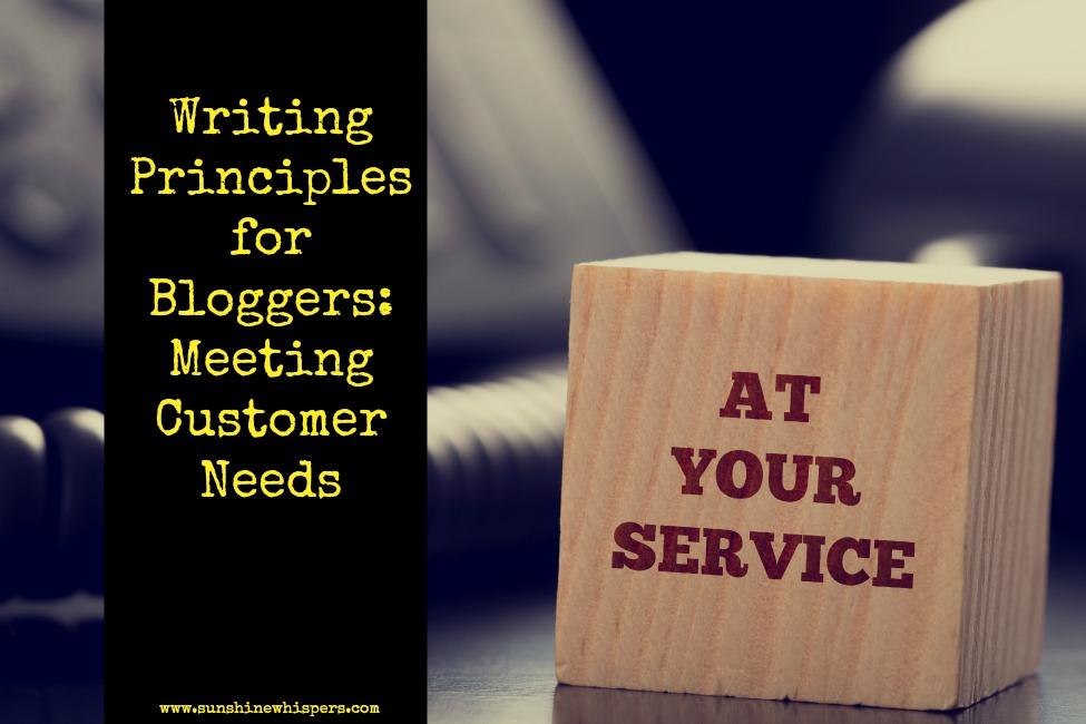 writing principles for bloggers meeting customer needs