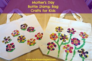 Mother's Day Bottle Stamp Bag Crafts for Kids