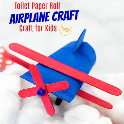 toilet paper roll airplane craft for kids