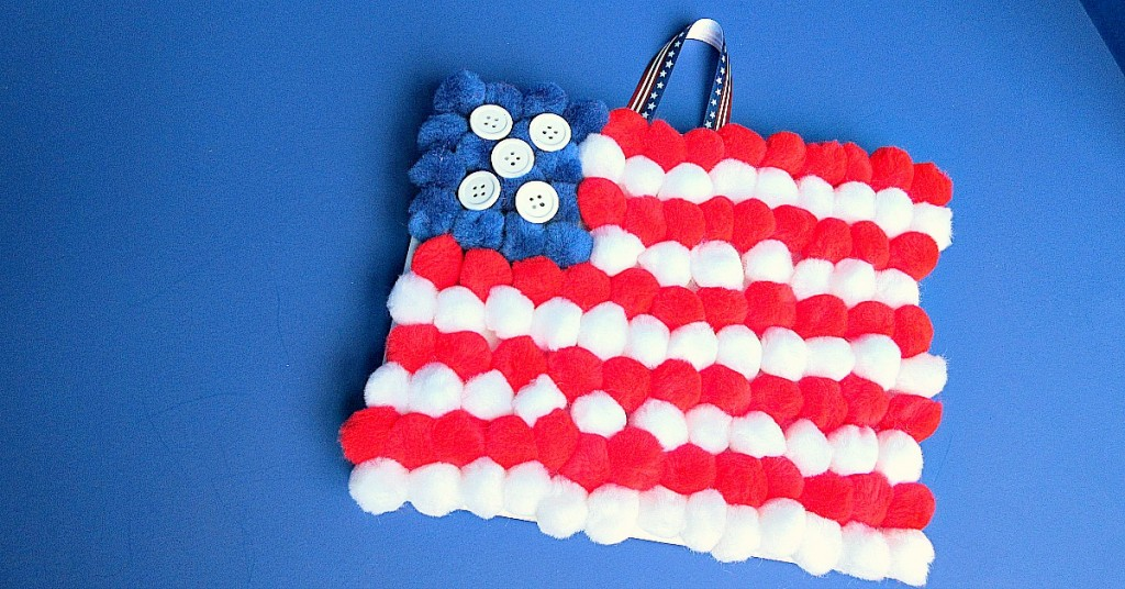 pompom flag crafts for kids 6