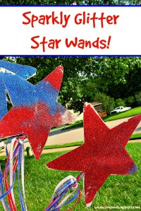 sparkly glitter star wand crafts for kids