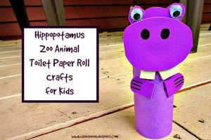 hippopotamus zoo animal toilet paper roll crafts for kids