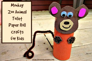 monkey zoo animal toilet paper crafts for kids