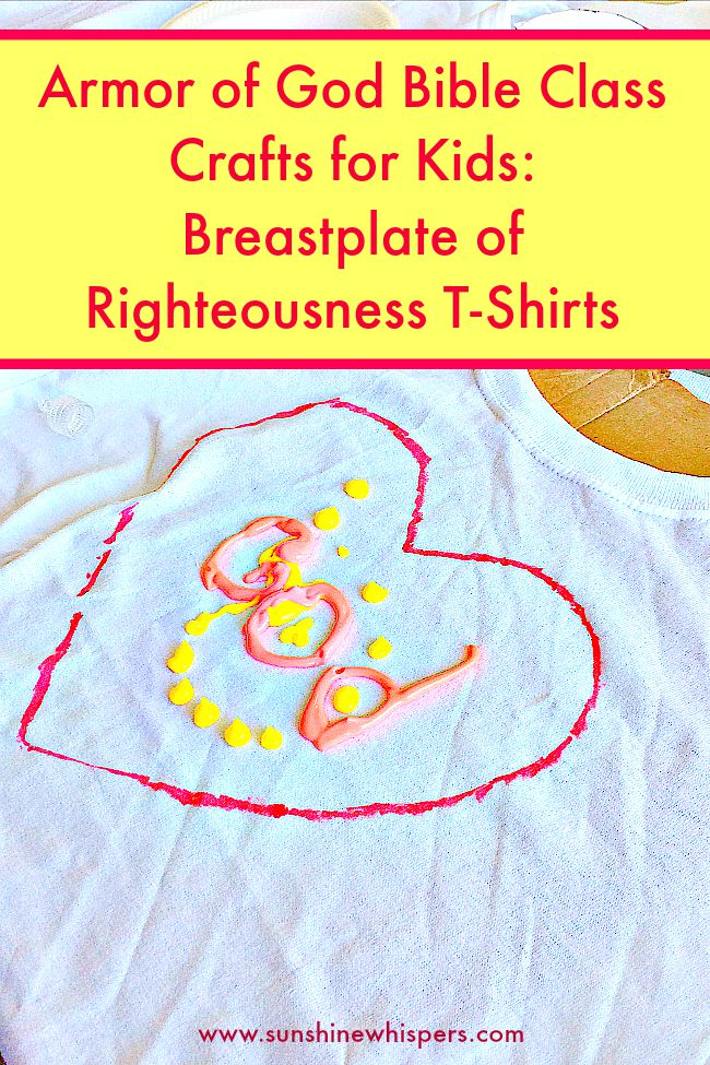 Armor Of God Bible Class Crafts For Kids Breastplate Of Righteousness T Shirts