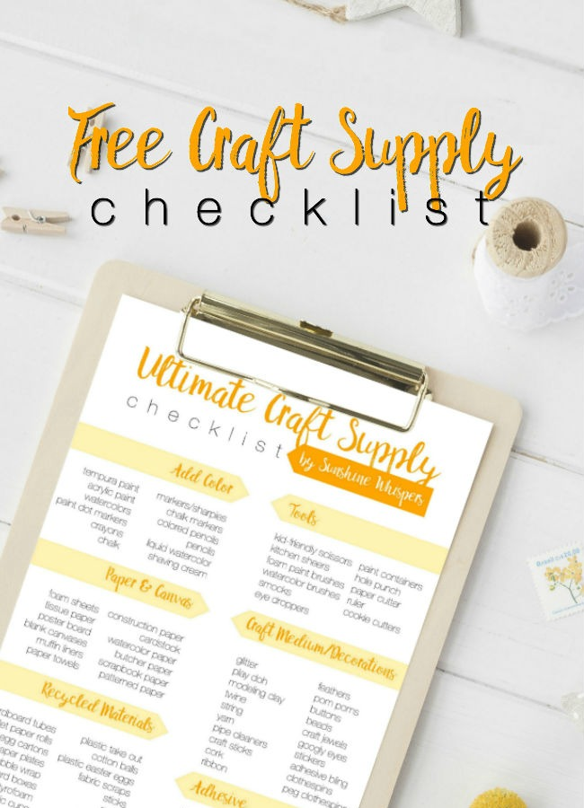 ultimate craft supply checklist