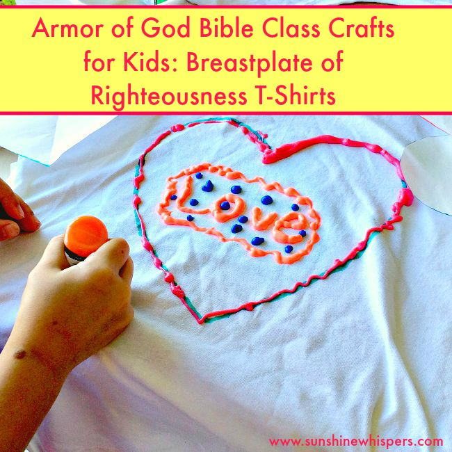 Armor of God Bible Class Crafts for Kids: Breastplate of Righteousness T-Shirts