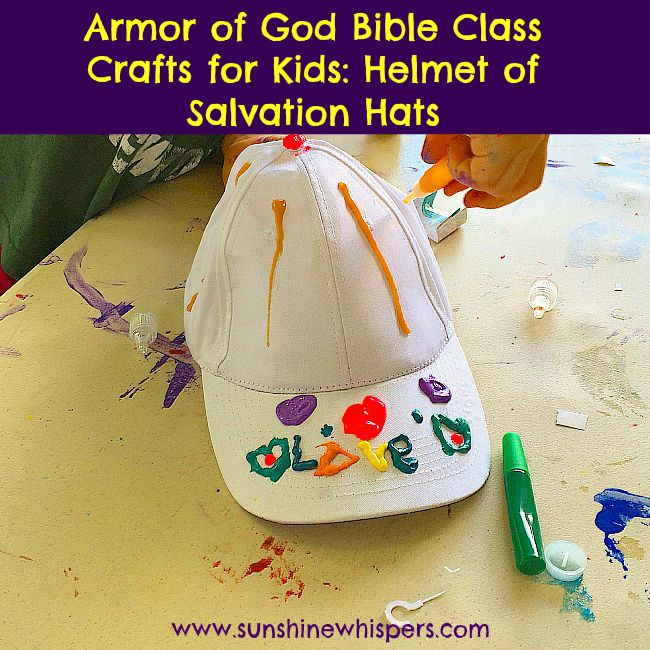 armor of god bible class crafts for kids helmet of salvation hats 2