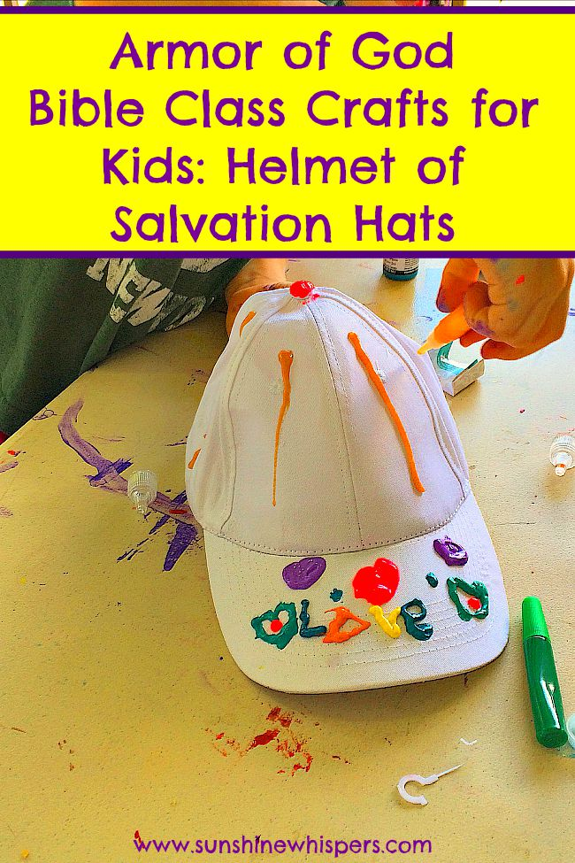 armor of god bible class crafts for kids helmet of salvation hats