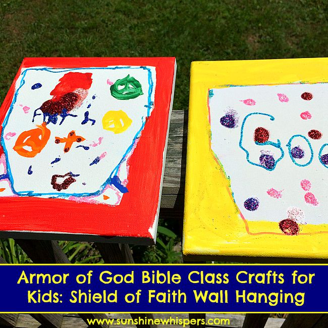 armor of god bible class crafts for kids: shield of faith