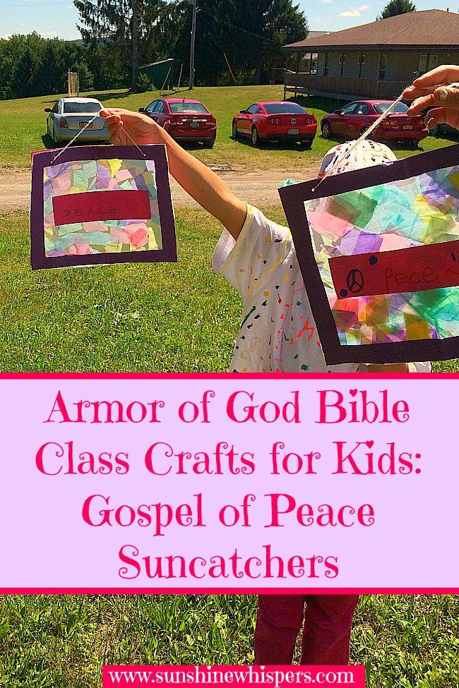 armor of god bible class crafts for kids gospel of peace suncatchers