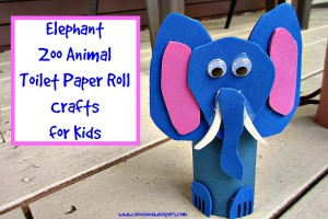 elephant zoo animal toilet paper roll crafts for kids 2