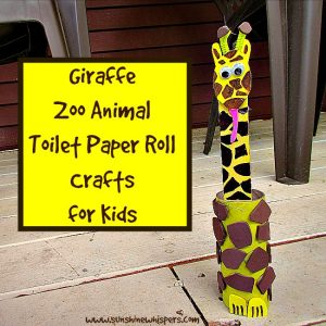 giraffe zoo animal toilet paper roll crafts for kids