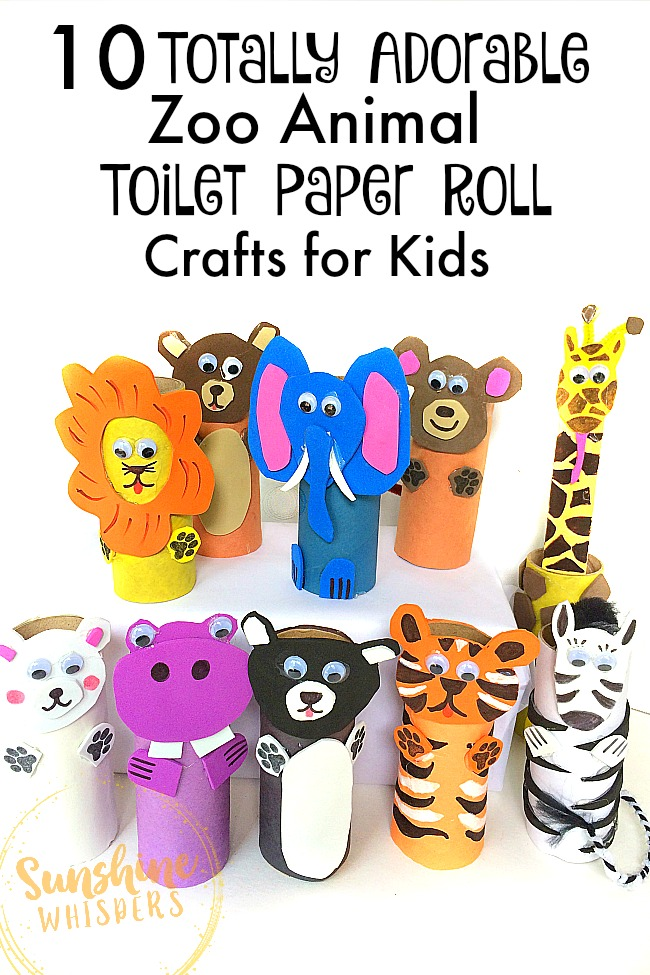 zoo animal toilet paper roll crafts for kids