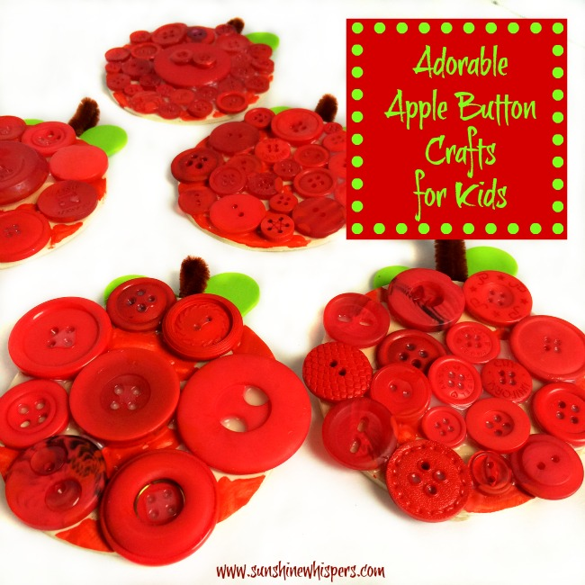 Adorable Apple Button Crafts for Kids