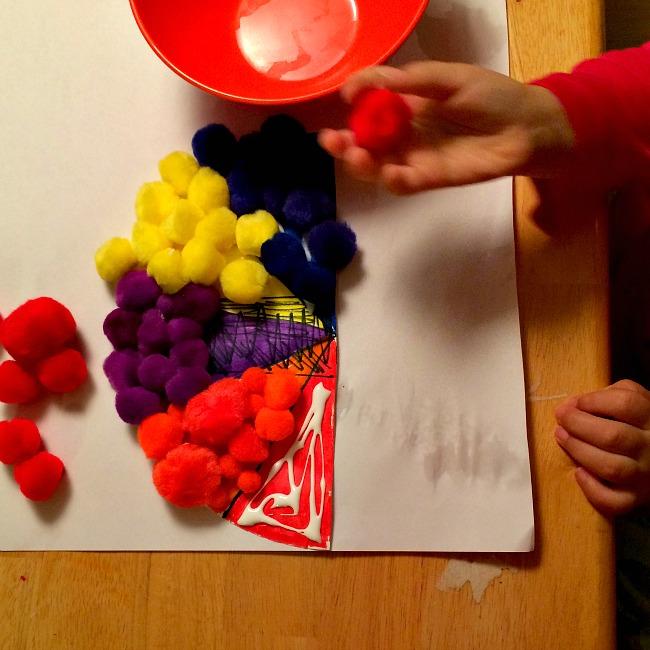 pom pom toilet paper roll turkey crafts for kids