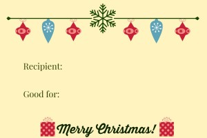 chirstmas coupon