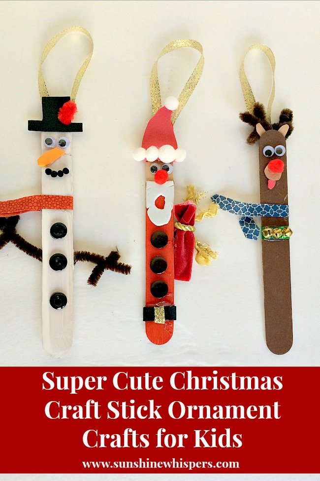 Cute Christmas Ideas For Kids.Totally Cute Christmas Craft Stick Ornament Crafts For Kids