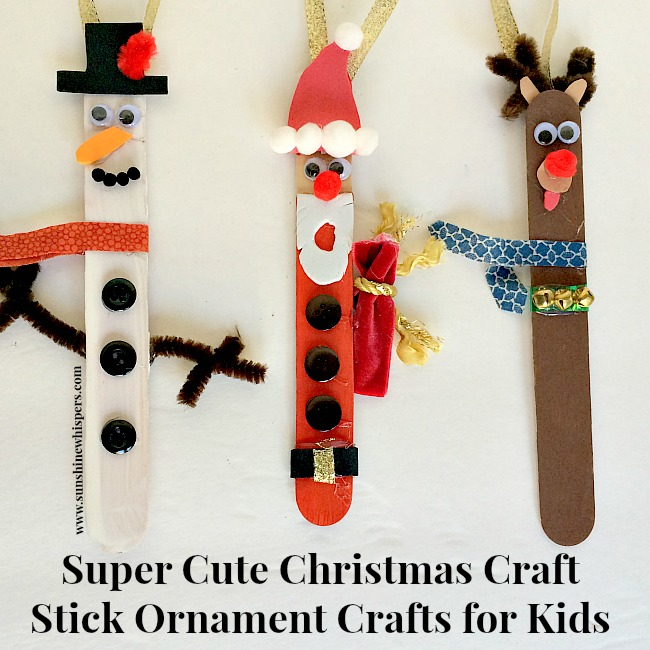Totally cute christmas craft stick ornament crafts for kids for Cute christmas crafts for toddlers
