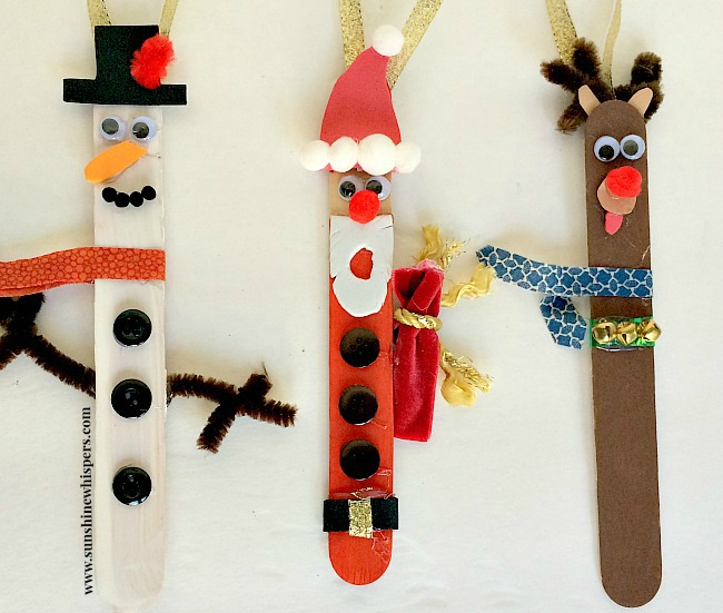 christmas craft stick ornament crafts for kids 8