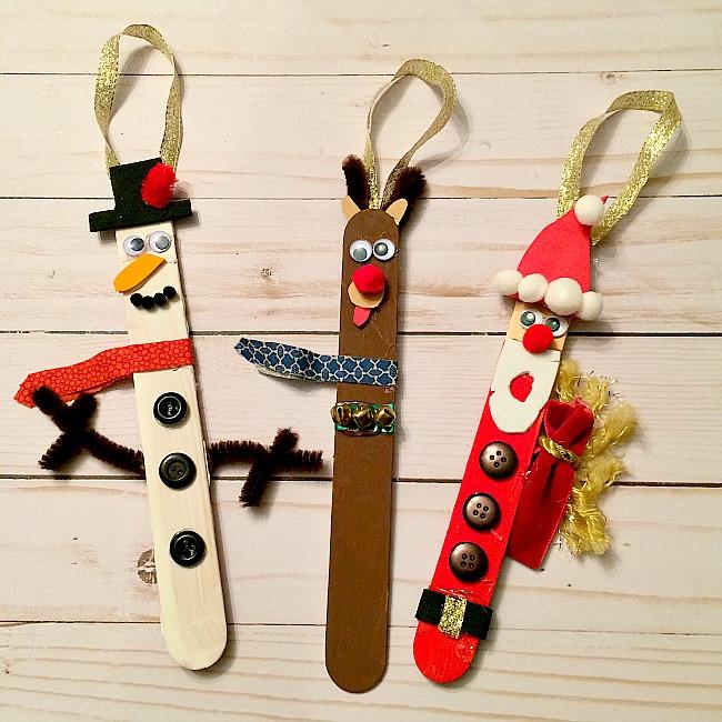 christmas craft stick ornaments