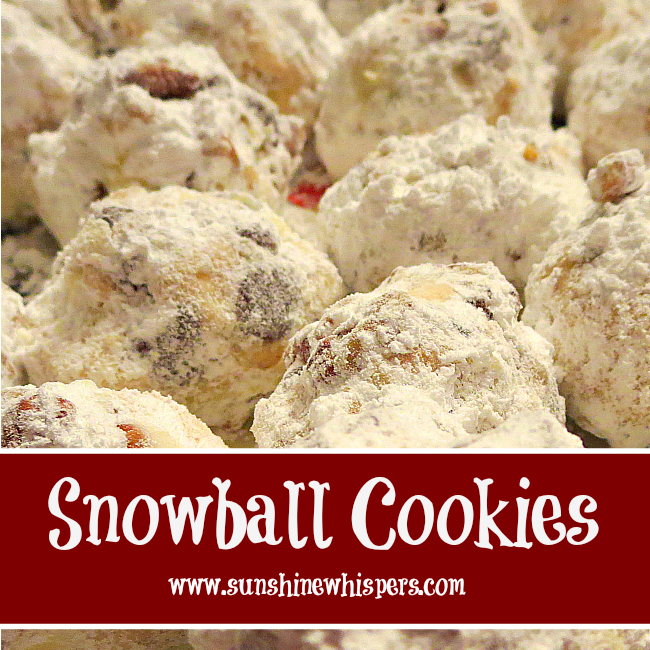 Delicious Christmas Cookie Recipes: Snowballs