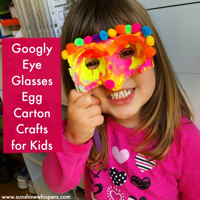 Googly Eye Glasses Egg Carton Crafts for Kids
