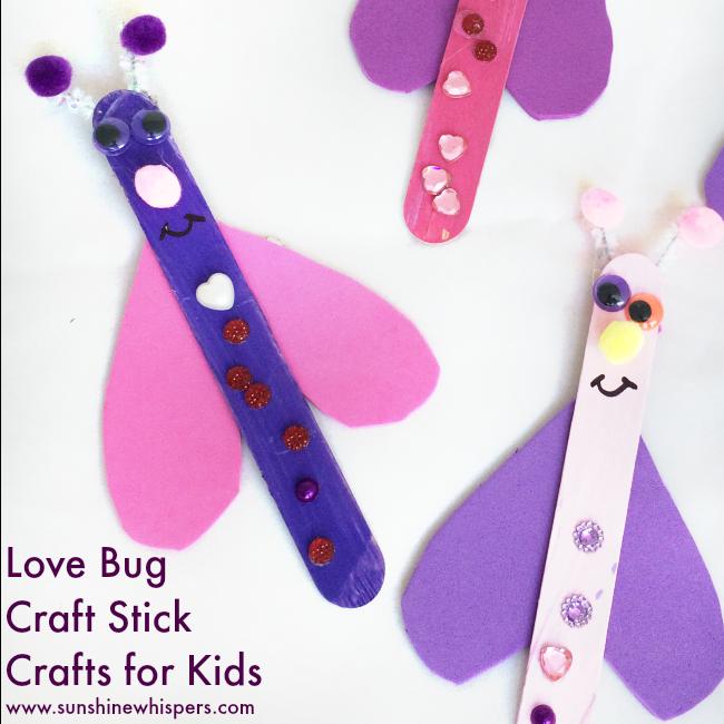 Super Fun Craft Stick Love Bugs!