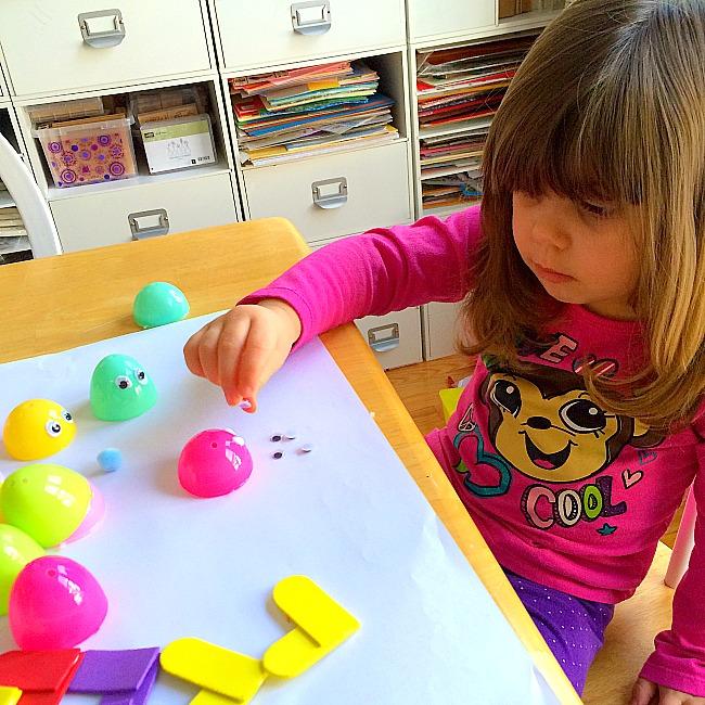 Plastic Egg Love Bug Craft for Kids