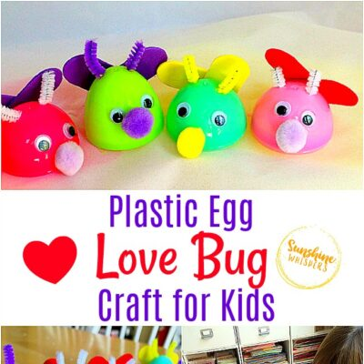 Plastic Egg Love Bug Craft for Kids