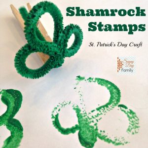 Shamrock Stamps square_sunny day family