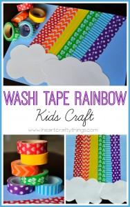 Washi Tape Rainbow Kids Craft_Iheartcraftythings